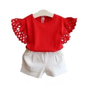 Other - Adorable shorts and top set for girl